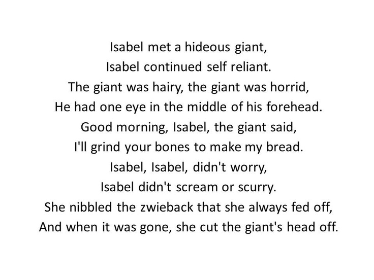 The Adventures Of Isabel Stanza 3 By Ogden Nash Sayings