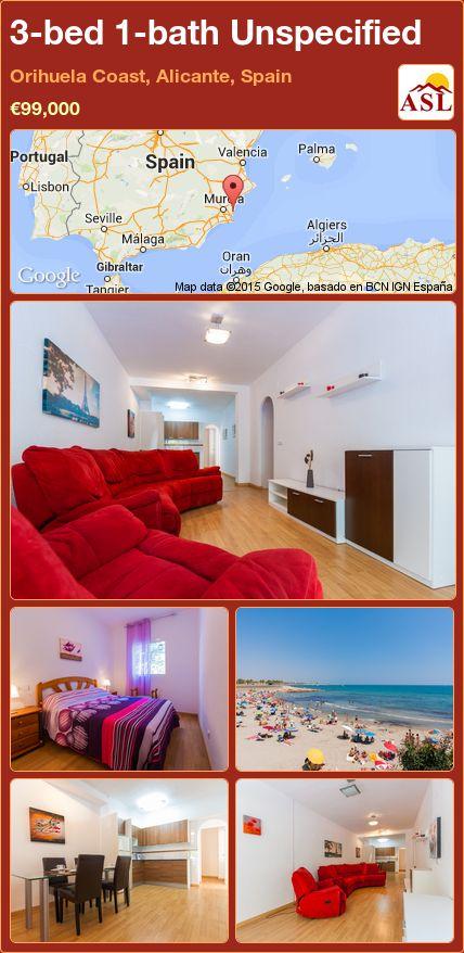 3-bed 1-bath Unspecified in Orihuela Coast, Alicante, Spain ►€99,000 #PropertyForSaleInSpain