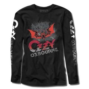 Manga Longa - Ozzy Osbourne Morcego - FATUM - Geek on the Rocks