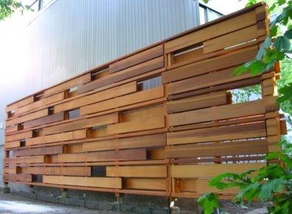 Clôture bois exotique. Même une clôture peut être source de création