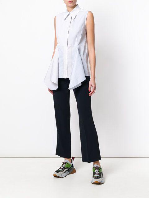 Stella McCartney pantalones de pinzas con raya lateral