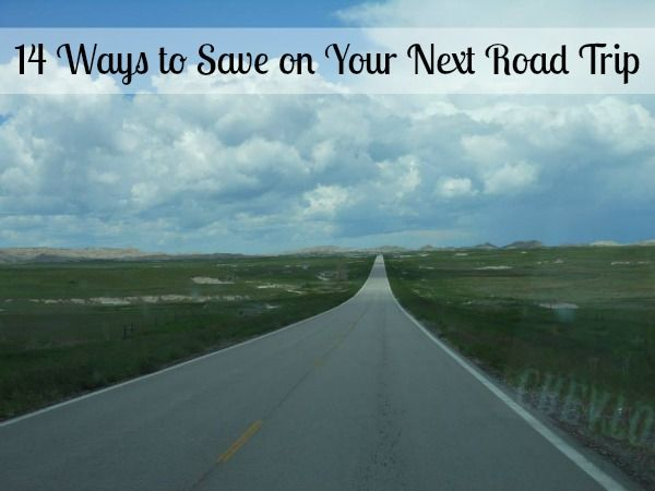 14 Ways to Save on Your Next Road Trip! Great ideas including meals, lodging, snacks, gasoline, entertainment and more! #roadtrip #family #vacation