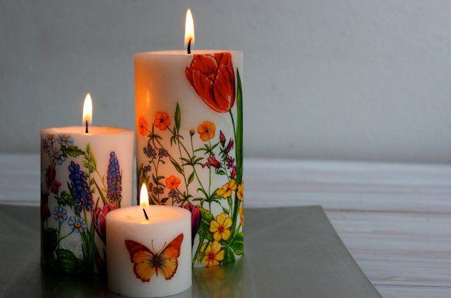 Cómo hacer velas decoradas