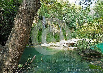 Kurşunlu waterfall Antalya in summer day.