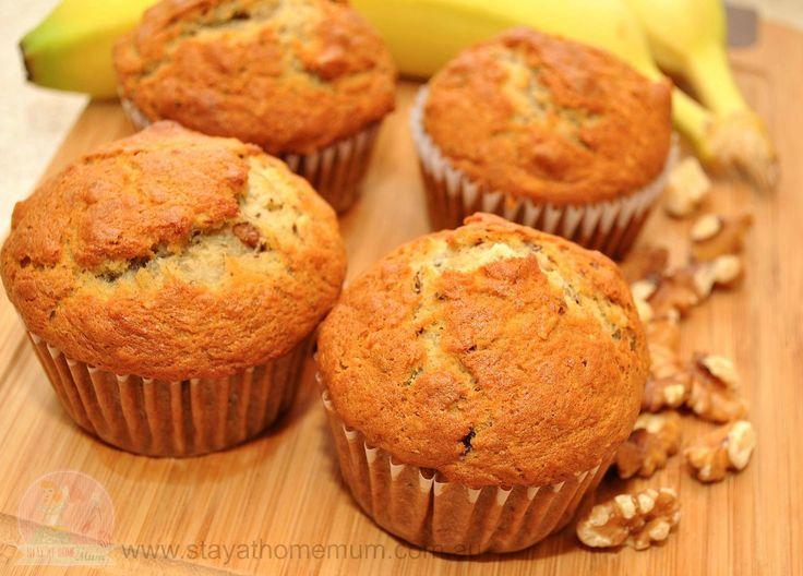 Banana walnut muffins
