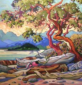 Painting by Greta Guzek