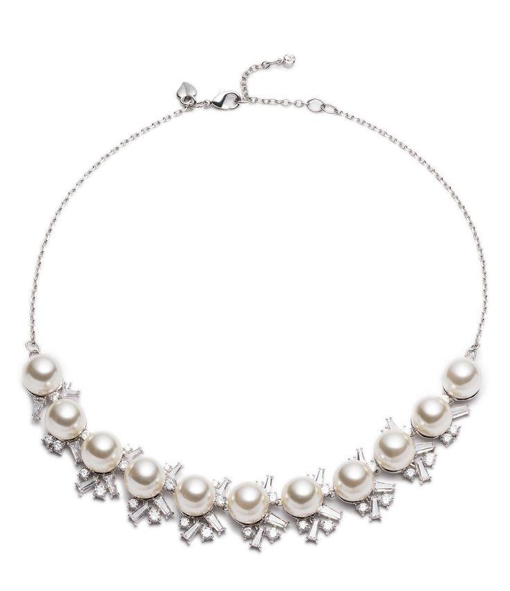Carolee Pearl Premier FauxPearl Frontal Necklace #Dillards