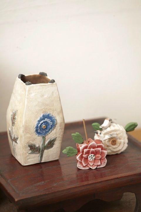 ceramic vace an incense holder