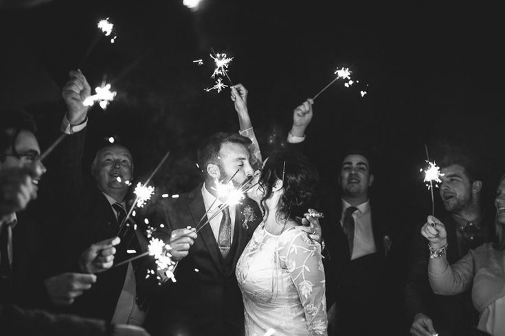 Sparklers Bride Groom Fun-Loving Low Key Pub Wedding https://www.oliviajudah.co.uk/