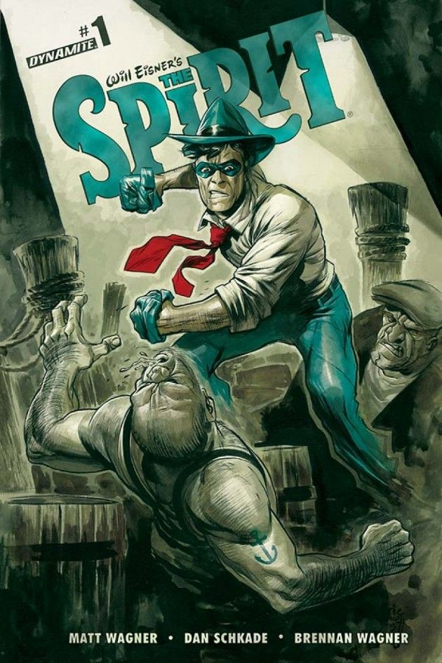 Capa de Will Eisner's The Spirit, por Eric Powell.