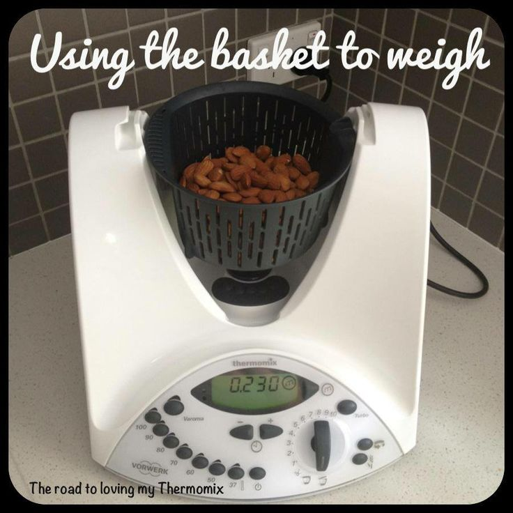 Using the basket to weigh - The Road to Loving my Thermomix!