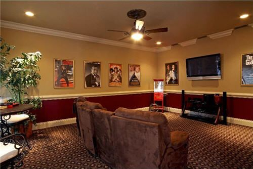 Theater room in the San Antonio home