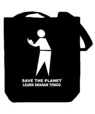 Save The Planet Learn Sranan Tongo Canvas Tote Bag