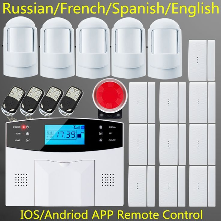 82.41$  Buy here - http://airj9.worlditems.win/all/product.php?id=32525288292 - free shipping IOS & andriod App home security GSM alarm system with Fire/Smoke Sensor,5 motion detector,10 door sensor