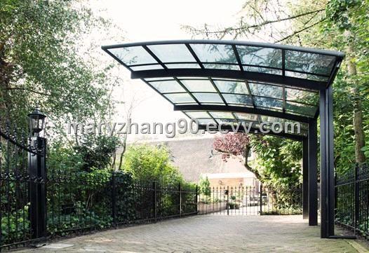 Cantilevered steel pergola architecture pinterest for Carport gate ideas