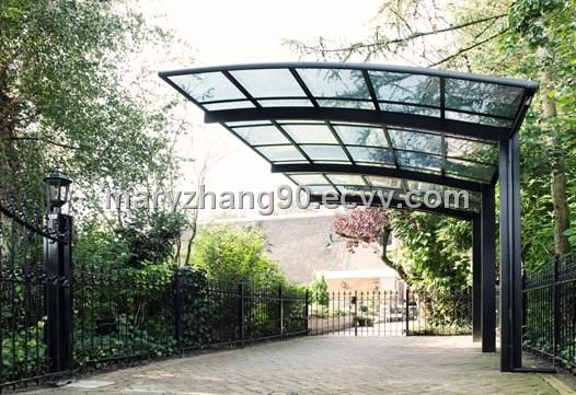 12k 21 A Steel Hoop Arbor And A Pergola Frame Draped With
