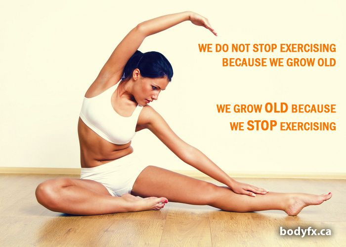 Motivation: We Do Not Stop Exercising Because…
