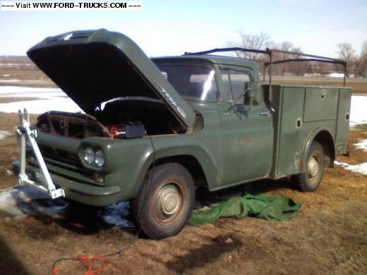 1960? Ford - Looks like phone company started to change to this type of utility body by the early 60's?