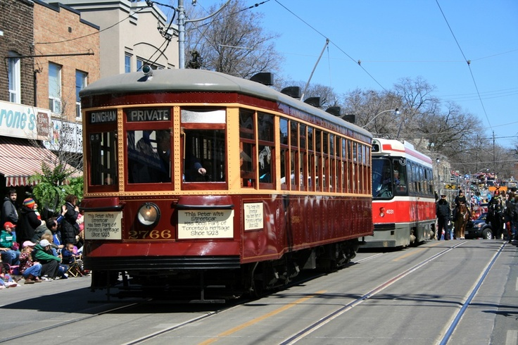 Street car in Toronto, Canada.  I remember these.  Loved the windows.