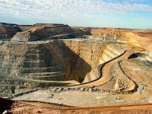 The Super Pit gold mine in Kalgoorlie, Australia's largest open cut mine