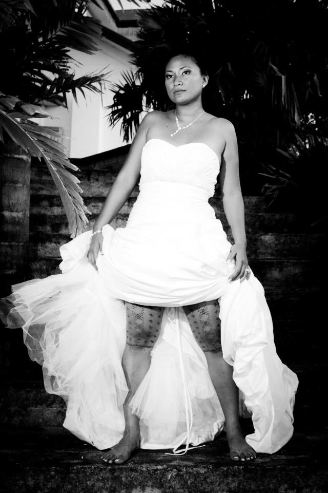 A beautiful Samoan warrior bride displaying her malu ...  A beautiful Sam...