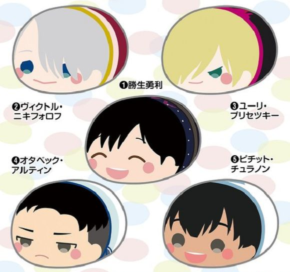 "New Yuri!!! on Ice giant ""marshmallow"" anime plushies are almost here, almost all-head 