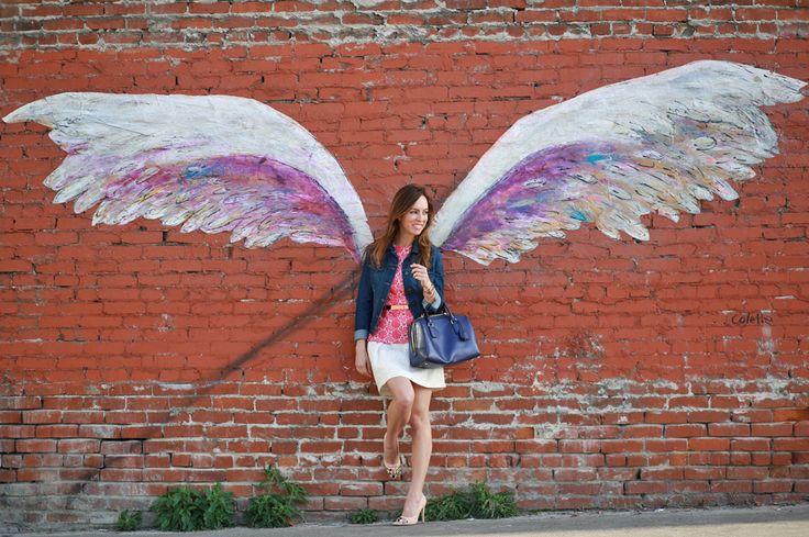 Sydne Style - LA street art wings downtown mural