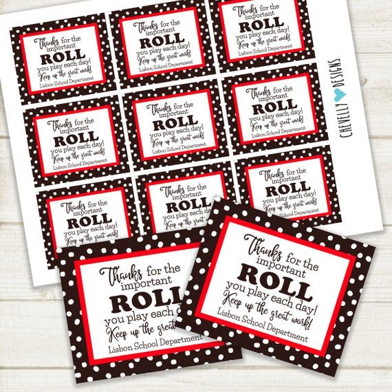 Thanks For The Roll You Play Employee Appreciation Tootsie Etsy In 2021 Employee Appreciation Gifts Staff Gifts Appreciation Printable