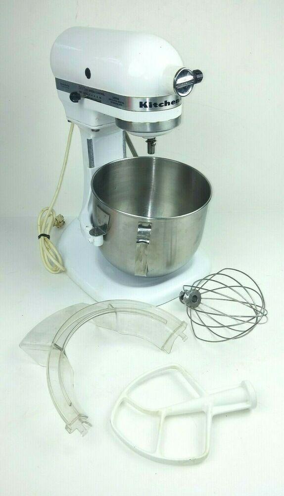 KitchenAid Mixer K5SS Stand Mixer Tilt White with ...