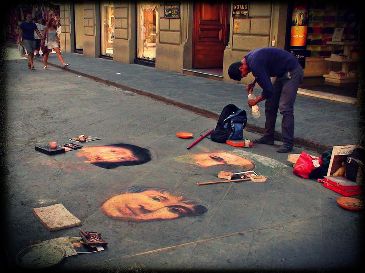 Painting on the streets.Florence,Italy