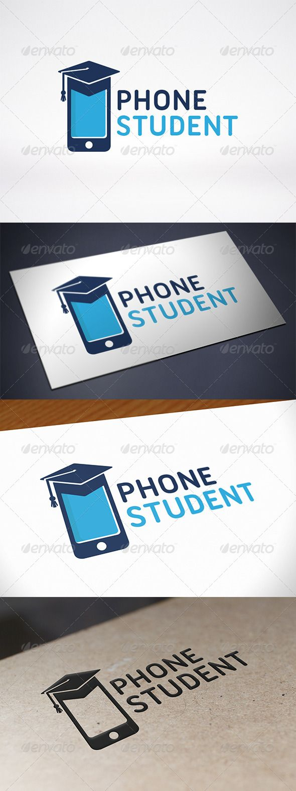 Phone Education Logo — Vector EPS #android #app • Available here → https://graphicriver.net/item/phone-education-logo/7802504?ref=pxcr