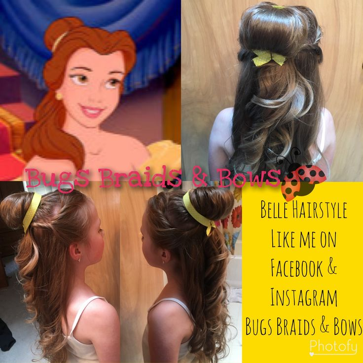 Anyone wanting a beautiful Belle hairstyle for a birthday party or dress up for the movie?? Let me know !! #BugsBraidsandBows