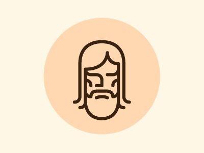 Iconic symbolism that looks like Jesus!