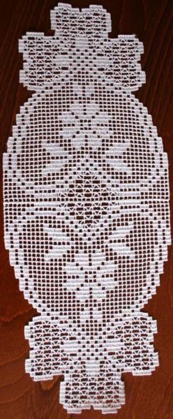 Advanced Embroidery Designs - FSL Crochet Oval Bow Doily Set