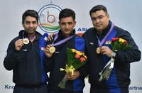 """<p class=""""MsoNormal"""">Congratulations! Olympic champion Abhinav Bindra clinches gold in the men's 10m Air Rifle event of the Asian Air Gun Championships on Sunday.</p><p class=""""MsoNormal""""><br></p>  <p class=""""MsoNormal"""">Not only this, but India also bagged a gold medal in the 10m air rifle team event, with Bindra, Narang and Chain Singh shooting a total of 1868.6.</p><p class=""""MsoNormal""""><br></p>  <p class=""""MsoNormal"""">WOW! Another milestone for 'stunner gunner' Abhinav Bindra"""