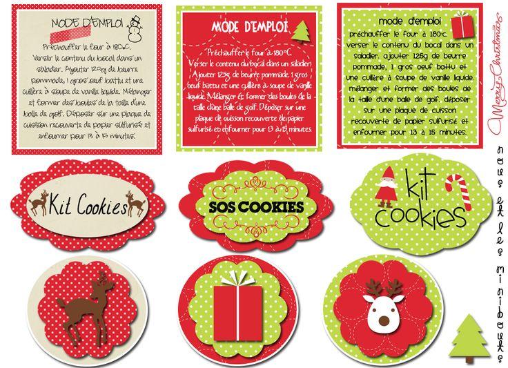 Étiquettes kit cookies