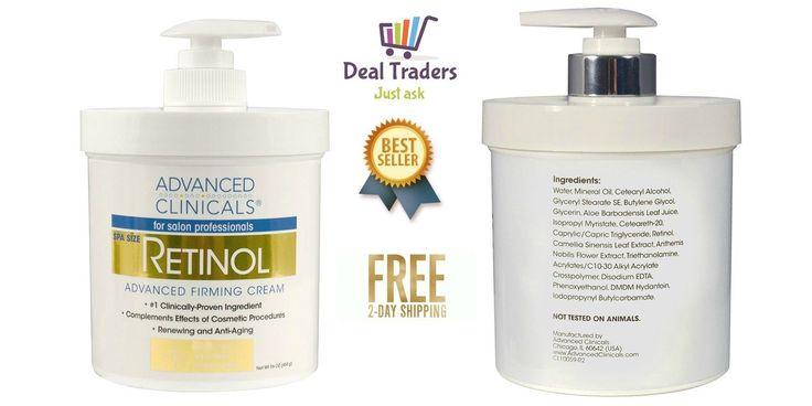 Retinol Advanced Firming Cream Spa 16 oz Anti Aging Face Skin Wrinkles Remover