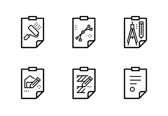 Bold outline vector icons. #LineIcons #VectorIcons #achitectIcon