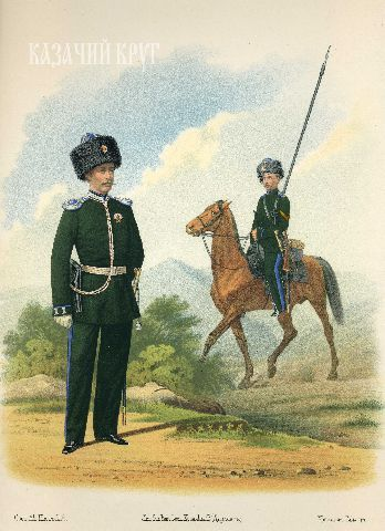Оренбургское казачье войско. Пешие батальоны и конные полки (парадная форма). 21 октября 1867 г.