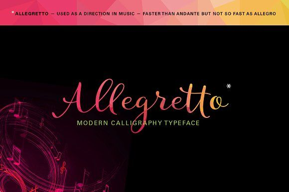 Allegretto Script (intro 20%off) by MyCreativeLand on @creativemarket