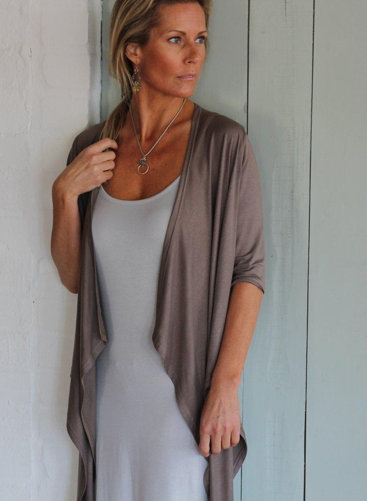 'short waterfall jacket', softening the sides of ones silhouette...lovely paired with a cami or vest with jeans or dress, keeps the 'upper arm' a mystery x x x