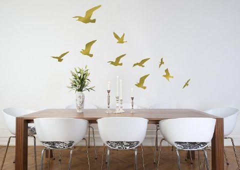 Zazous - flock of birds wall stickers various colours - gold £29.99 10 birds