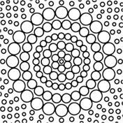 Circle Mandala Coloring page