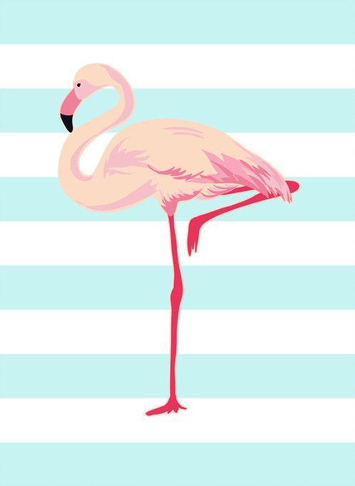 Poster flamingo; quadro de parede para decoração