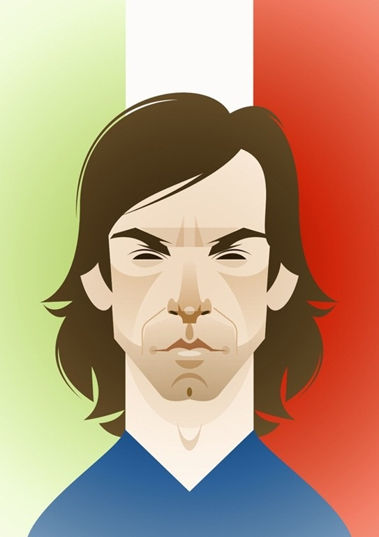 Pirlo, by Stanley Chow