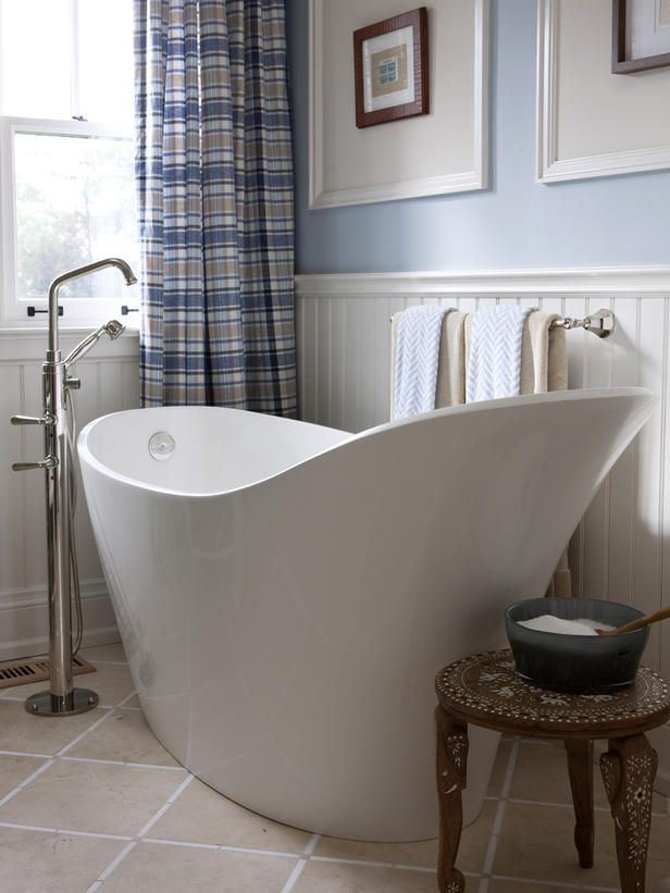 - Beautiful, Luxurious Bathtub Ideas and Inspiration on HGTV  My favorite tub! Room for soaking & no edges to clean