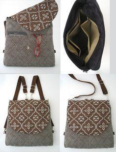 Diese hochwertige Tasche ist schön und funktional - kann als Bote-Cross Body Bag, Rucksack, oder als Umhängetasche - Beutel getragen werden. toll, die