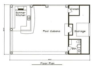 1000 images about pool house on pinterest house plans for Pool cabana floor plans
