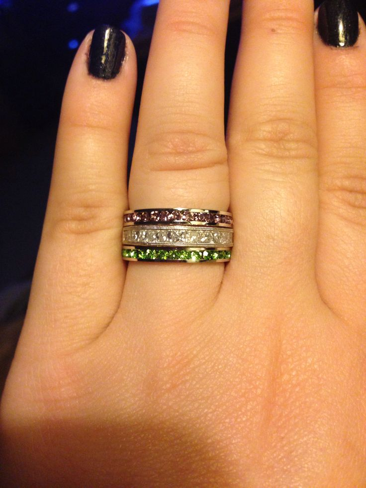 june birthstone my wedding band and august birthstone stackable rings