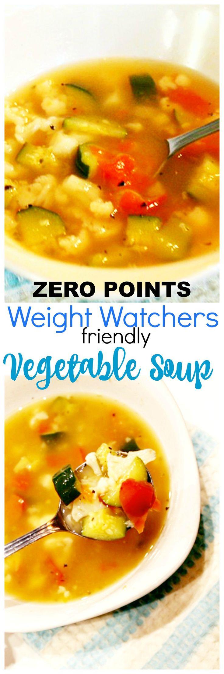 weight watchers vegetable soup recipe - Zero points! #Weightwatchers #recipe #zeropoints #soup